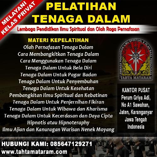 Perguruan Tenaga Dalam di Bandung - Tahta Mataram