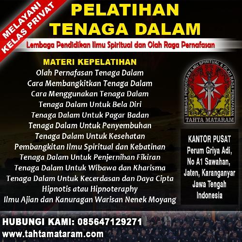 Perguruan Tenaga Dalam di Klaten - Tahta Mataram