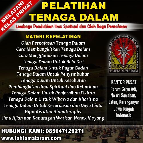Perguruan Tenaga Dalam di Madiun - Tahta Mataram