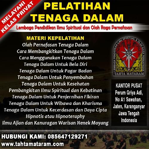 Perguruan Tenaga Dalam di Magetan - Tahta Mataram
