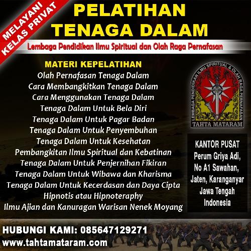 Perguruan Tenaga Dalam di Yogyakarta - Tahta Mataram